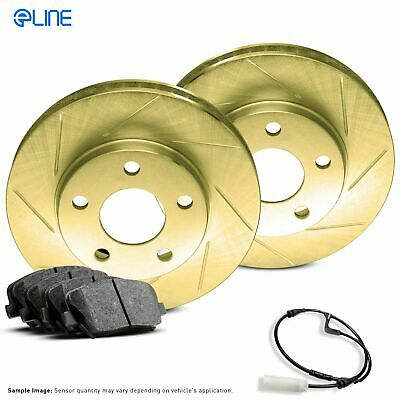 $57.98 • Buy For 1984-1991 BMW 325e, 325es, 325i Rear Gold Slotted Brake Rotors+Ceramic Pads