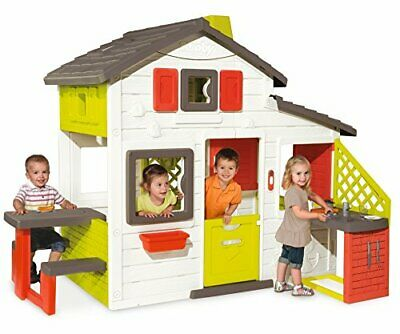 Smoby Kids Playhouse And Kitchen | Quick & Easy To Assemble Wendy House, Made • 450.01£