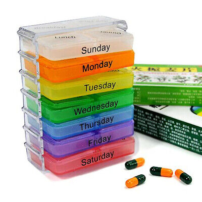 7 Day Pill Box Medicine Tablet Organiser Holder Storage Travel Dispenser New • 4.39£