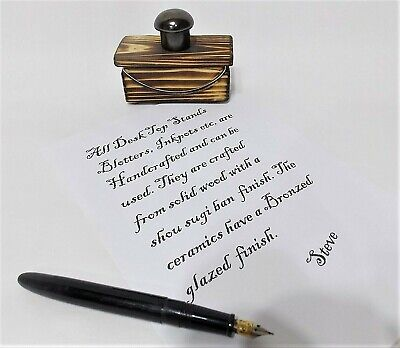 £14.99 • Buy £14.99 MINI Small Ink Blotter On Stand Desk Top Ink Fountain Dip Pen Calligraphy