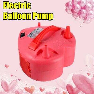 Air Balloon Pump Electric Portable 2 Nozzles Inflator Machine Party Activities • 13.19£