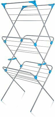 Minky 3 Tier Indoor Airer With Drying Space, Metal, Silver, 15 M • 32.99£