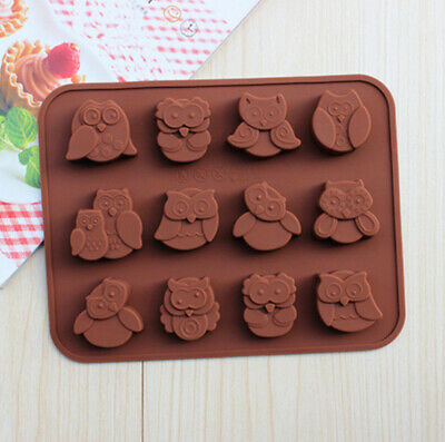 £2.85 • Buy 3D Silicone Mold Owl Chocolate Candy Mould Soap Wax Melt Ice Tray Cube Mold DIY