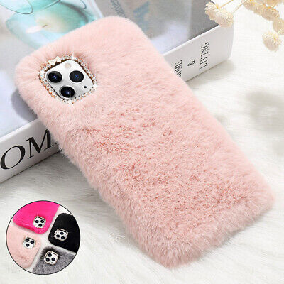Faux Fur Soft Plush Fluffy Shockproof Case Cover For IPhone 12 11 Pro 8 7 XS XR • 4.49£