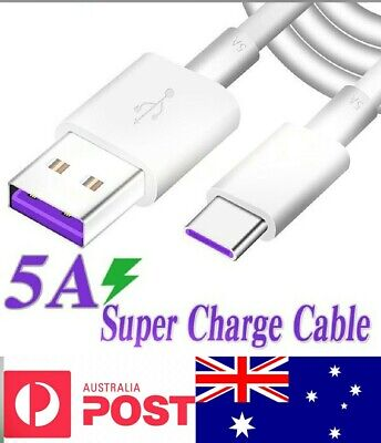 AU5.99 • Buy 5A Super Fast Charge Type C Cable  With DATA For Huawei Sumsung Google Xiaomi