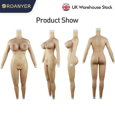 £447 • Buy Roanyer Silicone Breast Forms H Cup Fullbody Pants Transgender Drag Queen