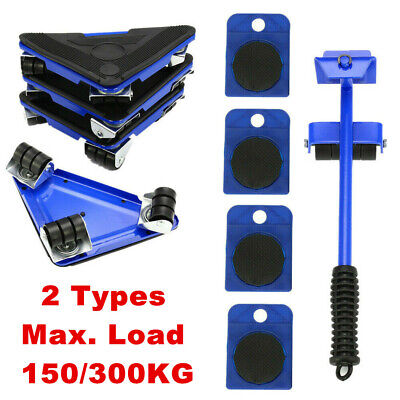AU31.99 • Buy Heavy Furniture Moving System Lifter Kit With 4Pcs Slider Pad Roller Move Tool