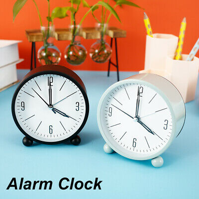 AU17.59 • Buy Silent Sweep Analogue Alarm Clock Battery Powered Desk Bedside Clock AUS