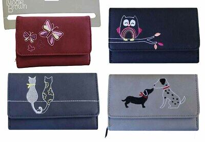 Womens Ladies Leather Small Animal Wallet Zip Round Card Button Clutch Purse • 8.99£