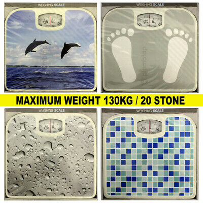 Budget Decorative Classic Bathroom Weighing Scales Mechanical Dial  • 130kg Max • 9.95£