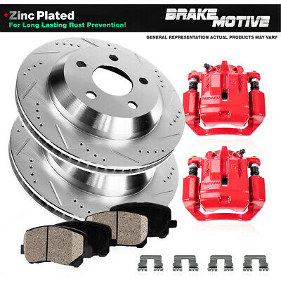 $382.83 • Buy Rear Brake Rotors And Calipers + Ceramic Pads For 2005 - 2010 2011 2012 Acura RL