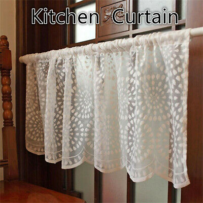 £8.99 • Buy Kitchen Cafe Curtain Lace Valance Window Sheer Net Voile Short Panel Home Decor