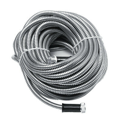 25-100FT Stainless Steel Water Hose Pipe Expandable Wash Nozzle Spray Connector  • 14.89£
