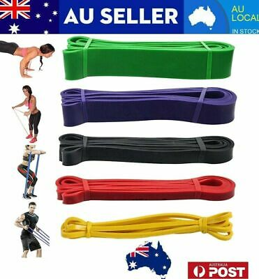 AU9.99 • Buy Resistance Band Heavy Duty Strength Loop Power Gym Fitness Exercise Yoga Workout
