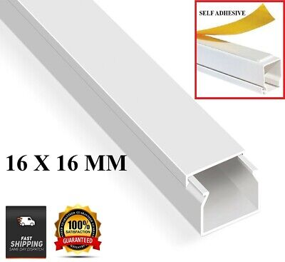 £3.79 • Buy Electrical Cable Trunking Cable Conduit PVC Wire Cover Mini Trunk White 16x16mm
