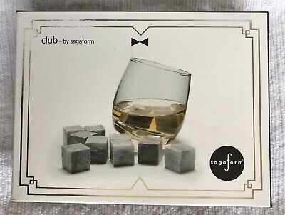 £6.75 • Buy Whiskey Rocks Set Of 9 Stones 'Club' By Sagaform Boxed Great Fathers Day Gift