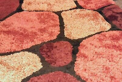 £59.99 • Buy Rug - Lovely Orange/brown & Black Pebble Style - Used But In Good Condition