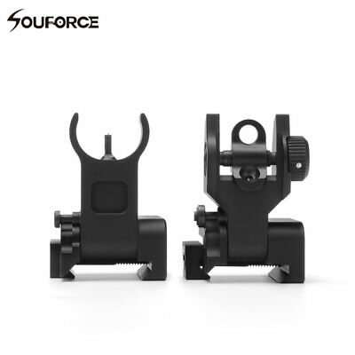 £13.99 • Buy Tactical Front And Rear Low Profile Flip-up Metal Sight Folding Iron Sights Set