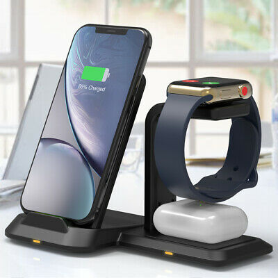 AU39.99 • Buy 3 In 1 Wireless Charger Dock Charging Station For IPhone 12 11 XS 8+ Apple Watch