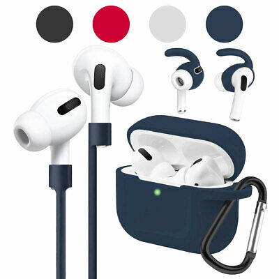 AU10.64 • Buy For AirPods Pro 2019 With Ear Earbuds & Hooks Waterproof Rubber Full Cover Case