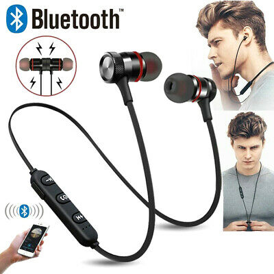 Bluetooth In-Ear Headphones Magnetic Earphones Running Sports Gym For PC Laptop • 6.93£