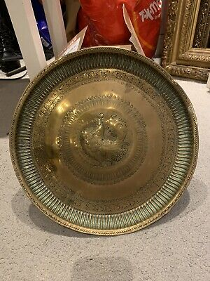 £14.99 • Buy Vintage Indian Brass Wall Plate Peacock