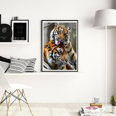 AU6.89 • Buy Tiger Animals DIY 5D Diamond Painting Kits Full Drill Art Embroidery Decors Gift