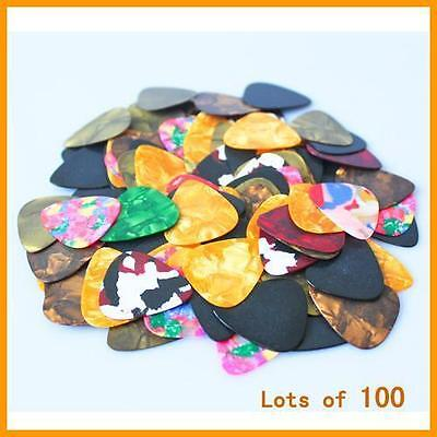 $ CDN4.45 • Buy 100pcs Guitar Picks Acoustic Electric Plectrums Celluloid Assorted Colors GUBW