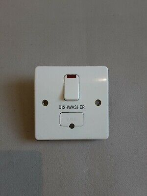 £7 • Buy Wylex Fuse Spur Switch With Noen Labbled DISHWASHER K1060 WHI