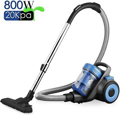 £50.99 • Buy Pro 800W Cylinder Vacuum Cleaner Bagless Compact Cyclonic Hoover HEPA Vac 1.5L