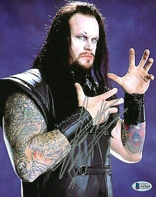 AU351.37 • Buy Wwe The Undertaker Hand Signed Autographed 8x10 Photo With Beckett Coa Rare 16