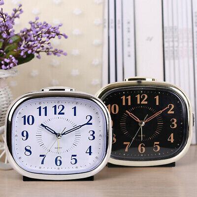 AU19.93 • Buy Silent Sweep Bedside Desk Alarm Clock With Night Light Non Ticking