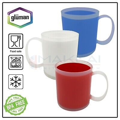 £12.99 • Buy 3x Unbreakable PLASTIC MUGS Reusable Drinking Cups Tea Coffee Camping Picnic