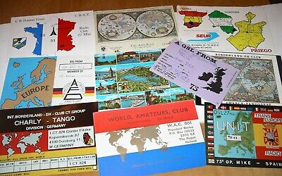 $ CDN10.50 • Buy 10 Vintage MAP Related EUROPE QSL RADIO CARDS