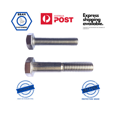 AU3.50 • Buy M8 8mm Hex Head Bolt & Set Screw Grade 304 Stainless Steel