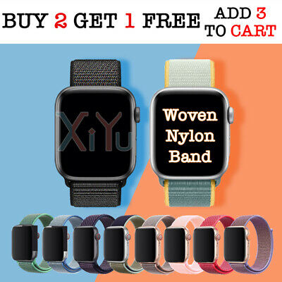 AU6.70 • Buy Nylon Woven Sport Strap Band 38 40 42 44mm For Apple Watch Series 1 2 3 4 5 6 SE