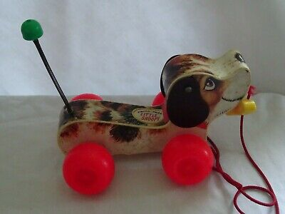A Vintage Fisher Price Pull-a-long Little Snoopy Dog (3163) • 42£