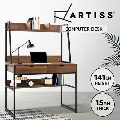AU122.95 • Buy Artiss Computer Desk Office Study Table Workstation Bookshelf Storage Drawers