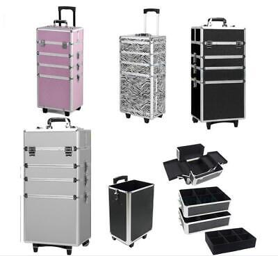 $71.99 • Buy Pro 4in1 Aluminum Rolling Makeup Case Cosmetic Box Trolley Large Storage Space