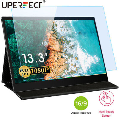 AU229.99 • Buy Portable Monitor 13.3 Inch Touch Screen 1920×1080 Full HD IPS Display For PC MAC