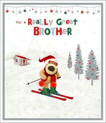 £4.59 • Buy Boofle Really Great Brother Christmas Greeting Card Cute Xmas Cards