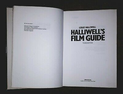 Halliwell's Film Guide By Leslie Halliwell (Hardback, 3rd Edition,1981) • 5.25£