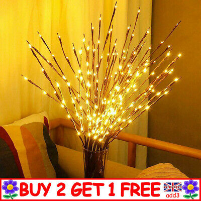 LED Twig Lights With Flower Effects Twigs Branch Home Decorative Fairy Lights YY • 5.93£