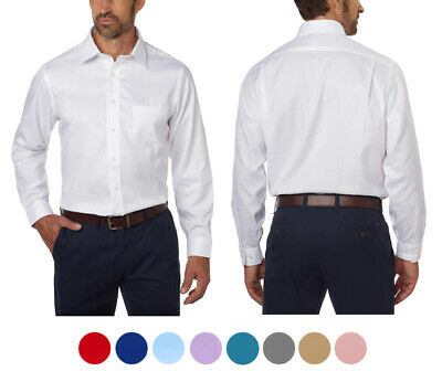 $18.95 • Buy Men's Boltini Italy Regular Fit Collared Long Sleeve Button Up Solid Dress Shirt