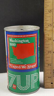 AU13.34 • Buy Washington 1976 7up United We Stand Can Flat Pull Tab Top 1 Of 50 Rare Vintage