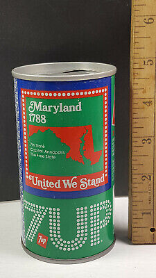 AU13.38 • Buy Maryland 1976 7up United We Stand Can Flat Pull Tab Top 1 Of 50 Rare Vintage