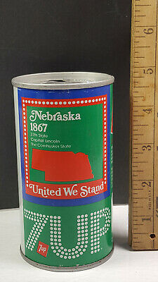 AU13.38 • Buy Nebraska 1976 7up United We Stand Can Flat Pull Tab Top 1 Of 50 Rare Vintage