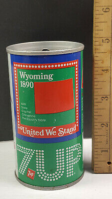 AU13.34 • Buy Wyoming 1976 7up United We Stand Can Flat Pull Tab Top 1 Of 50 Rare Vintage