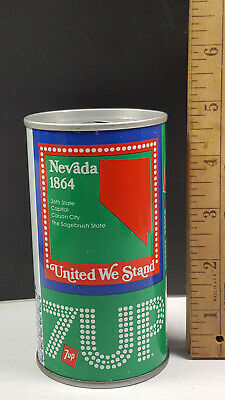 AU13.34 • Buy Nevada 1976 7up United We Stand Can Flat Pull Tab Top 1 Of 50 Rare Vintage