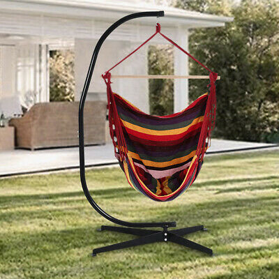 Garden Indoor Hanging Hammock Swing Chair Frame Stand X Base Patio Camping Seat • 31.14£